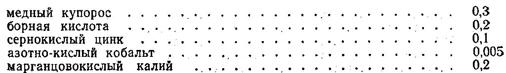 Обработка клубней микроэлементами